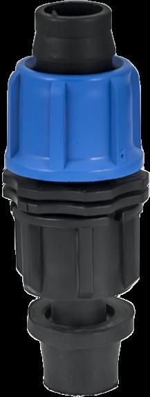 Водовземка с уплътнител за едносезонен капков маркуч