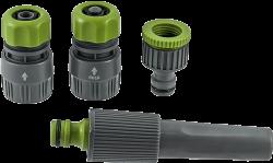 Бързи връзки със струйник Hydro-fit за маркуч - комплект