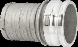 Щуцер за камлок връзка тип E алуминиев