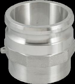 Адаптор за камлок връзка външна резба тип F алуминиев