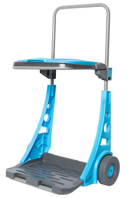Мобилна градинска количка и кош