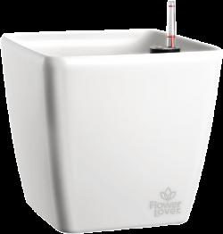 Саксия Quadrato 18  с патентована напоителна система и дренаж