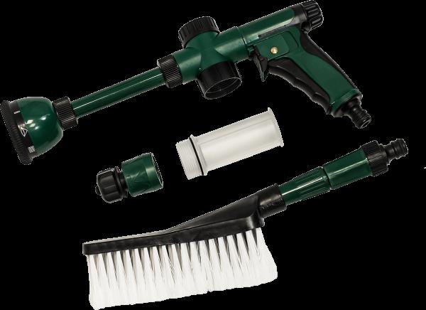 Воден пистолет с душ и четка комплект